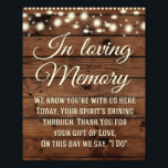 "In Loving Memory Sign, Wedding Sign, Wedding Decor Photo Print<br><div class=""desc"">Great Rustic wedding sign for your special day!</div>"