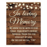 In Loving Memory Sign, Wedding Sign, Wedding Decor Photo Print<br><div class='desc'>Great Rustic wedding sign for your special day!</div>