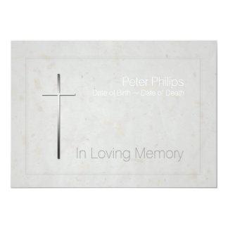 In Loving Memory Silver Cross Funeral 3 Card