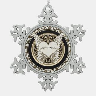 In Loving Memory Snowflake Pewter Christmas Ornament