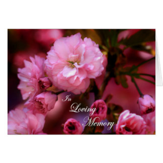 In Loving Memory Spring Pink Cherry Blossoms Card
