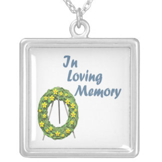 In Loving Memory Square Pendant Necklace