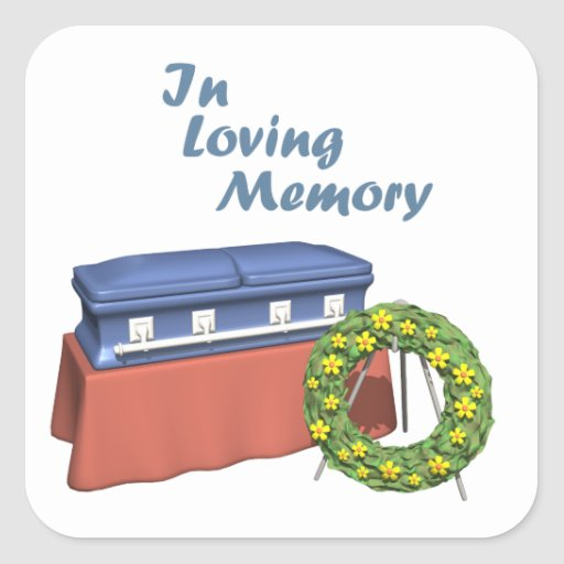 In Loving Memory Square Stickers