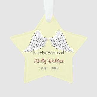 In loving memory Star Ornament