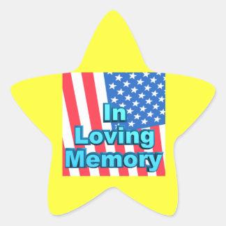 In Loving Memory Star Sticker