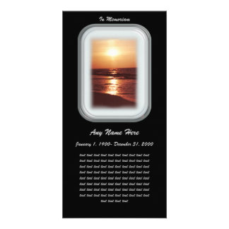 In Loving Memory= Sunset Card
