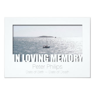 In Loving Memory Template 4 Celebration of Life 3.5x5 Paper Invitation Card