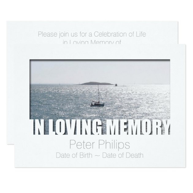 in loving memory template 4 celebration of life card