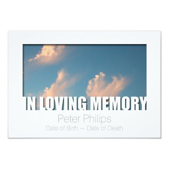 In Loving Memory Template 5 Celebration Of Life Zazzlecom