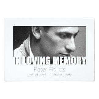 In Loving Memory Template Celebration of Life 3 Card