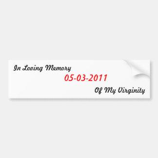 In Loving Memory Virginity Sticker