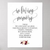 In loving memory Wedding Memorial Table Sign v4