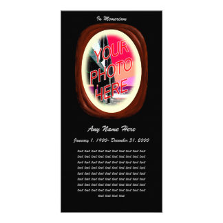 In Loving Memory- Wood Cameo Card