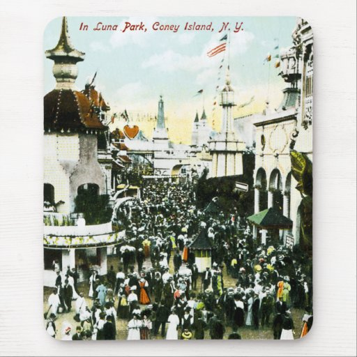 In Luna Park, Coney Island, New York Mouse Pad
