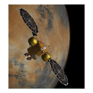 In Martian Orbit In Art Poster