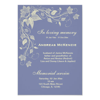 In Memoriam 5x7 Paper Invitation Card