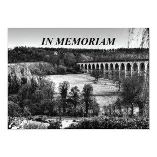 In Memoriam Black and White Bridge Over Landscape Card