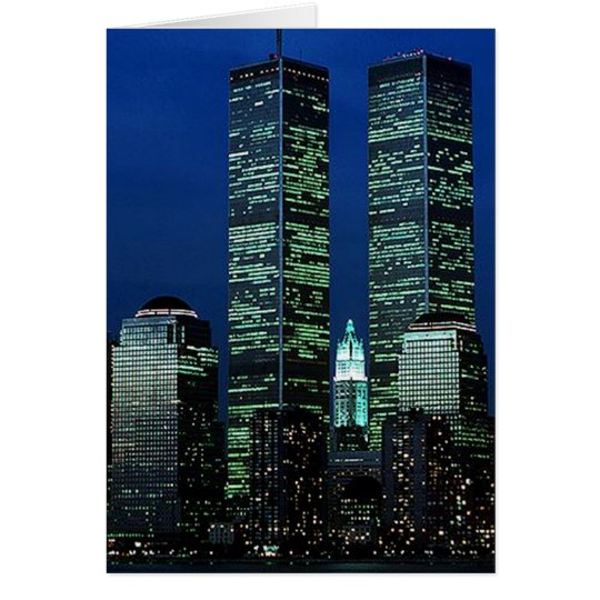 In Memoriam In memory of Twin Towers WTC NYC Card