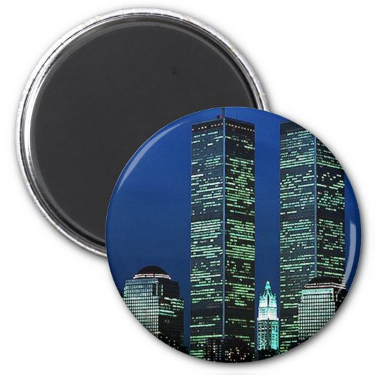 In Memoriam In memory of Twin Towers WTC NYC Magnet