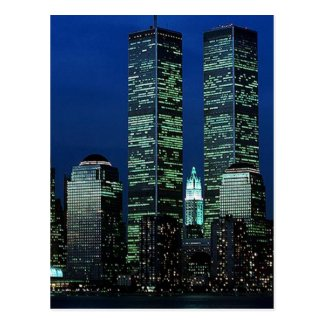 In Memoriam In memory of Twin Towers WTC NYC Postcards