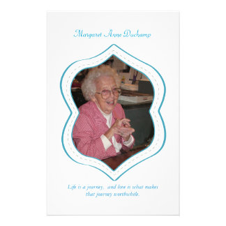 In Memoriam Loving Memory Funeral Photo Hand Out Flyer