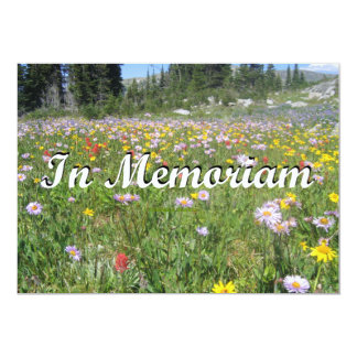 In Memoriam Mountain Wildflowers (Landscape) Card