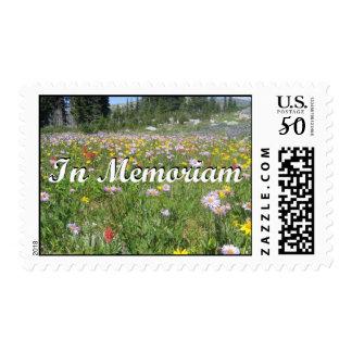 In Memoriam Mountain Wildflowers (Landscape) Postage