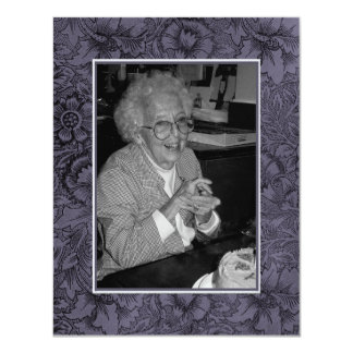 In Memoriam Remembrance Death Notice Photo 4.25x5.5 Paper Invitation Card