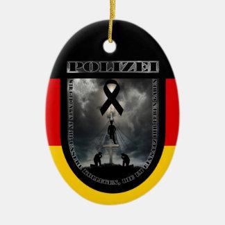 In memories of the deceased colleague ceramic ornament