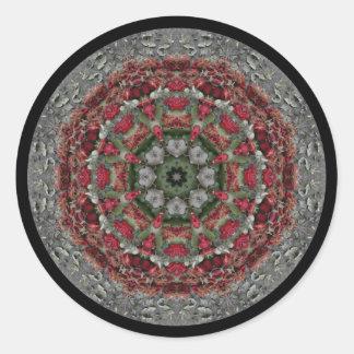 In Memorium Mandala Classic Round Sticker