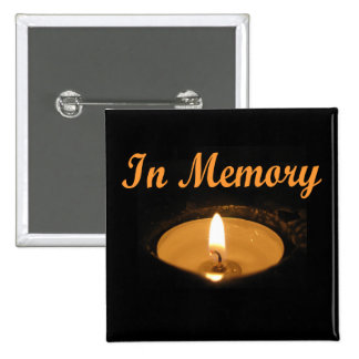 In Memory Candle Glow Button
