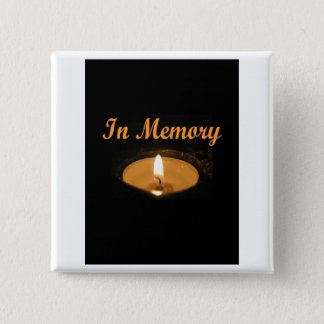 In Memory Candle Glow Pinback Button