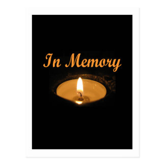 In Memory Candle Glow Postcard