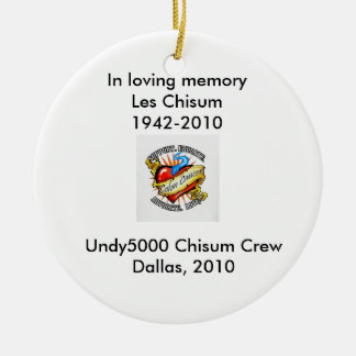 In Memory Ceramic Ornament
