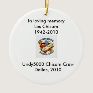 In Memory Ceramic Ornament