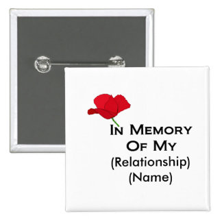 In Memory (Customizable) Memorial Day Buttons