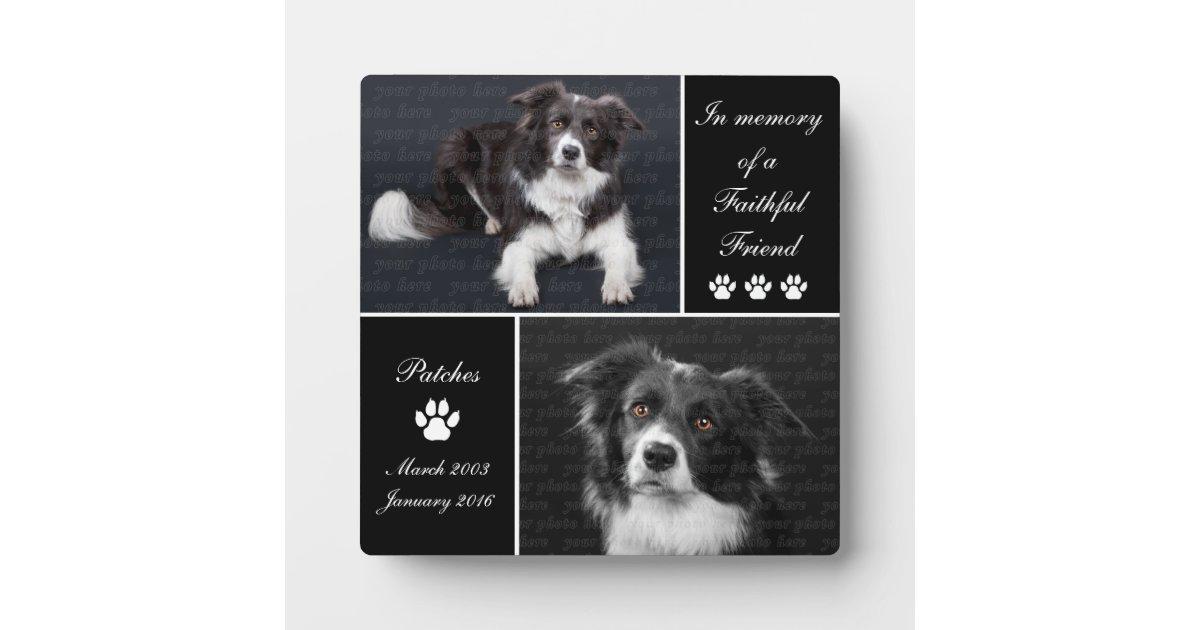 In Memory Dog Photo Memorial Keepsake Plaque | Zazzle.com
