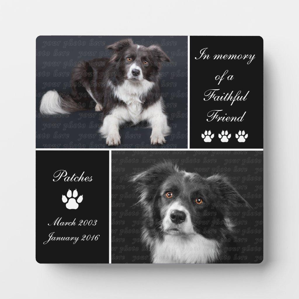 dog tribute plaque