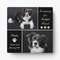 In Memory Dog Photo Memorial Plaque