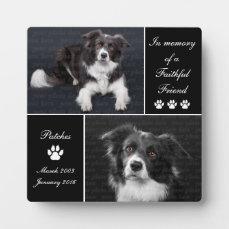 In Memory Dog Photo Memorial Plaque