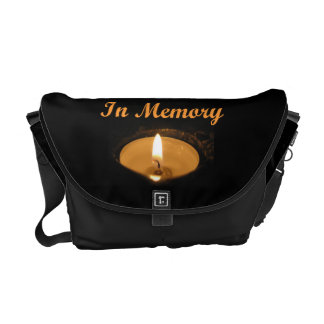 In Memory Glowing Candle Messenger Bags