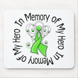 In Memory Hero Non-Hodgkin's Lymphoma Angel Wings Mouse Pad