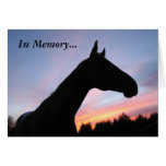 In Memory... Loss of a Horse, With Sympathy Greeting Card