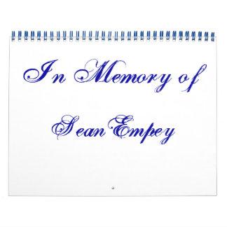 In Memory of 11x14 Calendar