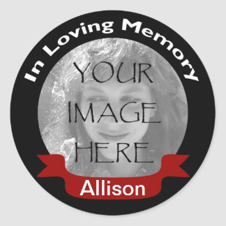 In Memory Of Black Photo Stickers