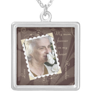 In Memory of Brown Photo Necklace