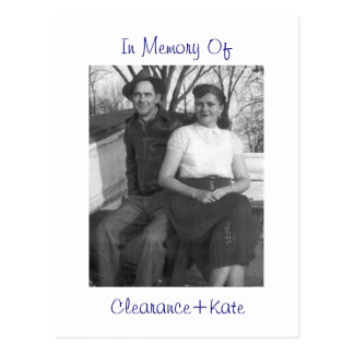 In Memory Of:Clearance+Kate Postcard