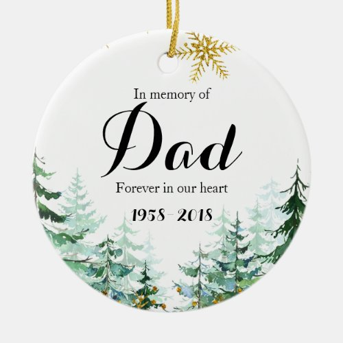 In Memory of Dad Ornament Christmas Gifts