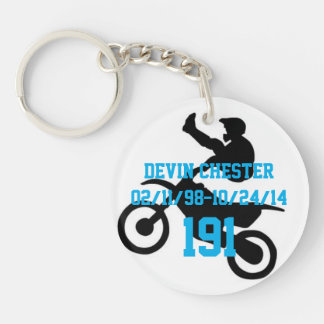 In memory of Devin Chester Keychain