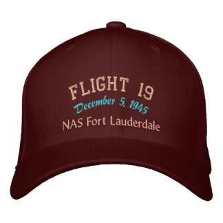 In Memory of Flight 19 Embroidered Baseball Hat
